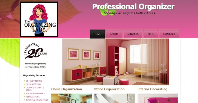 Organizing Lady website design
